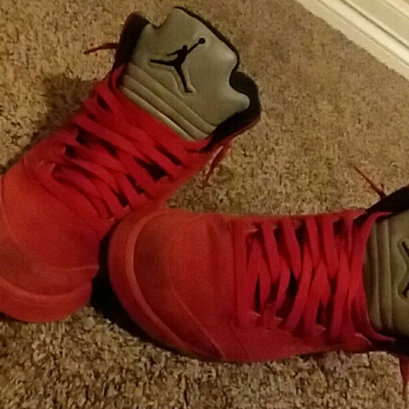 Jordan Shoes   Jordan 5s Red Suede